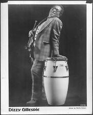 ~ Dizzy Gillespie Original 1980 Agency Promo Portrait Photo Jazz Trumpet