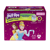 Pull-Ups Night-Time, 3T-4T 32-40 lb., 60 Ct, Potty Training Pants for Girls, for