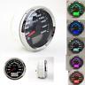 7 Colors LED Backlight 85mm GPS Speedometer Gauge Tuning LCD Odometer 200KM/H