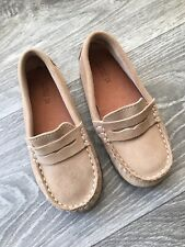 Zara Baby Soft Tan Suede Leather Loafers