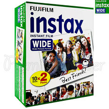 20 PCS BOX Fujifilm INSTAX WIDE Instant film picture for camera 100/200/210/300
