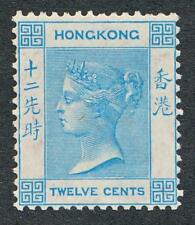 HONG KONG 15, MINT HINGED, 12c VICTORIA , WMK CC
