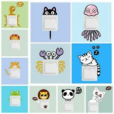 11pcs A Set Of Cartoon Kids Light Switch Surround Wall Sticker Decal Cover Decor