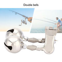 Stainless Double Bell Fishing Pole Assembly Fish Alarm Bells for Sea Fishing