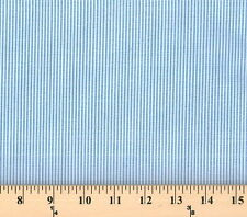 """Limited Edition Designer Shirting Blue White Stripes 60"""" Wide Fabric D168.01"""