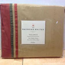 NEW Raymond Waites Paloma Cotton Window Valance 86 X 23 Red Green Stripe NIP