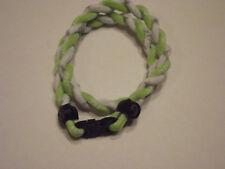 "( Rare Color ) Phiten Tornado Titanium Necklace  ( Lime Green and White )  18"""