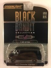 Greenlight Black Bandit '77 1977 Chevrolet G20 Van Die-cast 1/64 Scale 1 of 3756