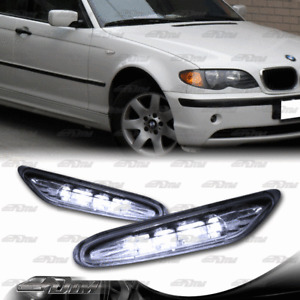 For 2002-2005 BMW E46 330i 325i 3-Series Clear LED Turn Signal Side Marker Light