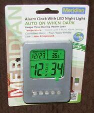 New Alarm Clock With LED Night Light Meridian
