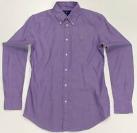 Ralph Lauren Chambray Oxford Shirt custom fit In Purple