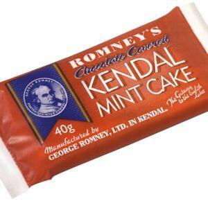 Kendal Mint Cake Romney's Chocolate Covered  Kendal Mintcake 3 x 40g Bars