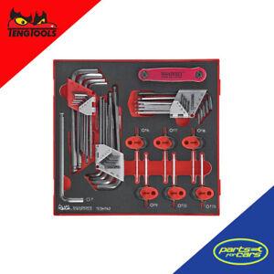TEDHT42- Teng Tools - 42 Piece HEX TX SD Key Set