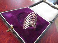 Wundervoller 925 Silber Ring Gewunden Geschwungen Modern Designer Elegant Edel
