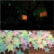 HOT 100PCS Home Wall Glow In The Dark Stars Stickers Baby KIDS Decal Noctilucent