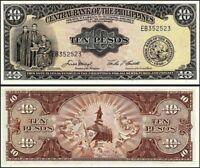 Philippines 10 Pesos 1949, Unc, P-136e, Prefix EB
