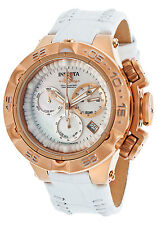 17229 Invicta Womens Subaqua Noma V Swiss Quartz Chronograph Leather Strap Watch