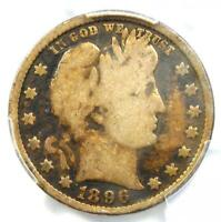 1896-S Barber Quarter 25C - PCGS VG Details - Rare Key Date Certified Coin!