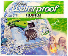 FUJIFILM QUICKSNAP WATERPROOF COLOUR 35mm DISPOSABLE CAMERA - by 1st CLASS POST