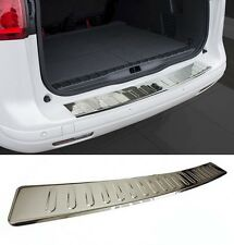 VW Golf MK6 6 GTI Rear Bumper Stainless Steel Protector Guard Trim Cover Chrome-