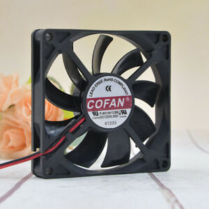 COFAN F-8015H12BII 12V 0.35A 80*80*15MM 8CM 2Pin Cooling Fan