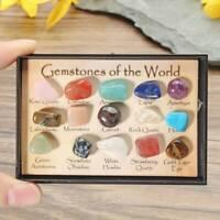15 Pcs Natural Chakra Tumbled Stone Mineral Crystal For Healing Feng Shui Decor