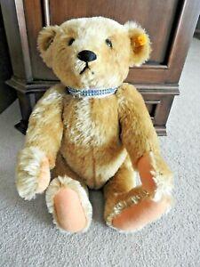 """Original Steiff Bear Teddy EAN 000256 Replica 1906, 20"""" Mohair Plush"""