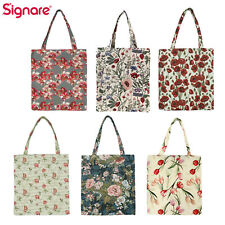 Reusable Grocery Bag Foldable Eco Friendly Shopping Tote In Floral Design
