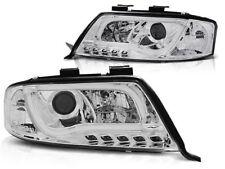 AUDI A6 2001 2002 2003 2004 FARI ANTERIORI LPAU93 LED TUBE LIGHTS CROMO