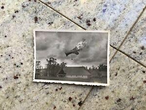 Orig. Foto Abschuß Beobachtungballon Russland Litauen Polen feindlicher Jäger