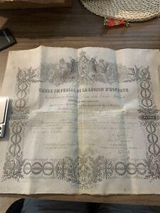 Papier Ordre Imperial De La Legion D Honneur Napoleon III