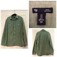 Men's Gap Slim Fit Shirt Green Size S Small Casual Long Sleeve (374)