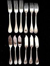 service couverts à poisson métal argenté fourchettes couteaux