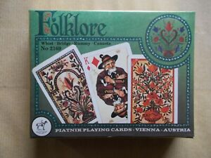 Folklore Piatnik Playing Cards Spielkarten Kartenspiel Romme Bridge Karten