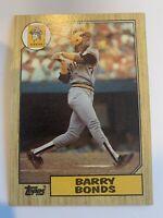 BARRY BONDS 1987 Topps Rookie #320 Pirates San Francisco Giants RC