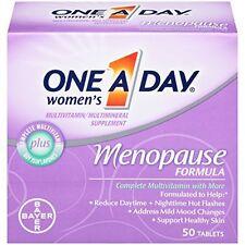 One-A-Day Women's Menopause Formula Multivitamin, 50-tablet Bottle Each