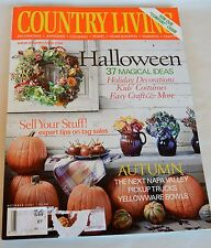 COUNTRY LIVING Magazine October 2001 Halloween 37 Magical Ideas Tag Sale Tips