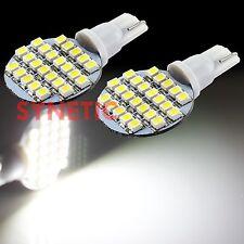 2x T10/168/175 Rv Trailer Interior 12V Led Light Bulbs 24-Smd 6000K Xenon White(Fits: Neon)