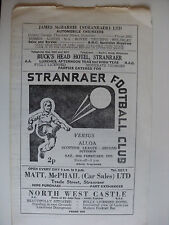 Stranraer Teams S-Z Football Scottish Fixture Programmes