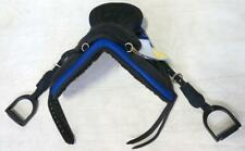 "12"" Kids Eclipse Treeless Endurance Saddle Bareback Pad Ro Blue W/Stirrups Lt Wt"