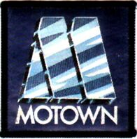 MOTOWN   'name' sew on woven patch  Silky material, vintage