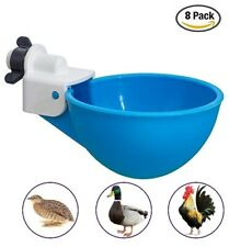 8 Chicken Watering Cups, Poultry Drinker Waterer for Pigeon Bird Chicken Quail