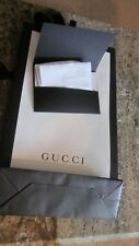 Gucci brown  and white paper shopping bag with mini envelope receipt
