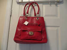 COACH GORGEOUS  CHERRY RED  PEBBLE LEATHER  HANDBAG 15694 NWT
