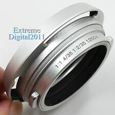 Silver Metal Lens Hood for Leica 12504 Summicron Summilux M 35mm 1:1.4 1:2 Lens