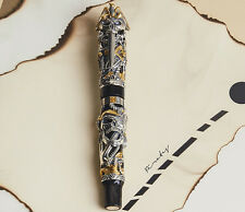 Montegrappa Ltd Edition The Pirates Sterling Silver & Yellow Gold Fountain Pen