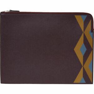 Dunhill Cadogan Engine Turn Zip Folio Portfolio Man Bag Wallet Leather New £495