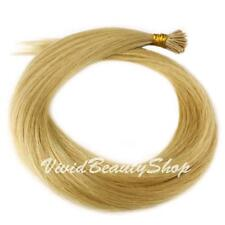 200 Stick I Pre Glue Tip Straight Remy Human Hair Extension Light Ash Blonde #22