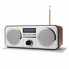 Wood cabinet mantlepiece style digital radio + 20 DAB/FM preset station