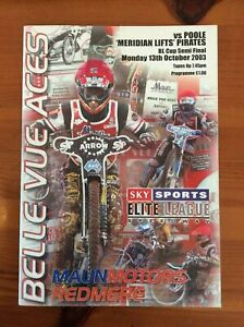 2003 BELLE VUE v POOLE PIRATES 13th OCTOBER     (GOOD CONDITION)
